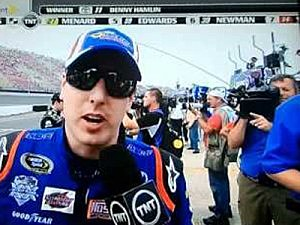 cameraman and kyle busch