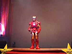 Principal dressed as Iron Man