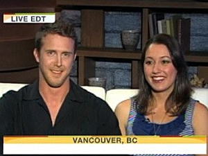 kissing vancouver couple on the today show