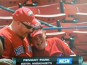 Kid has metldowm after getting baseball from Josh Beckett