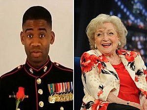 Marine and Betty White