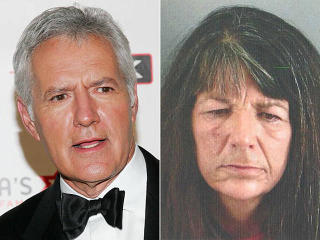 Alex Trebek and Lucinda Moyers