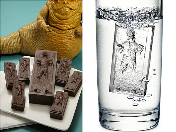 carbonite frozen han solo ice cube trays are a real thing. Black Bedroom Furniture Sets. Home Design Ideas