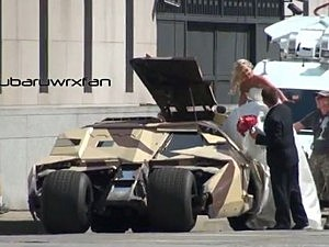 Batmobile Bride and Groom
