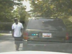 Stolen police car joyride