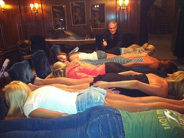 Playmates planking
