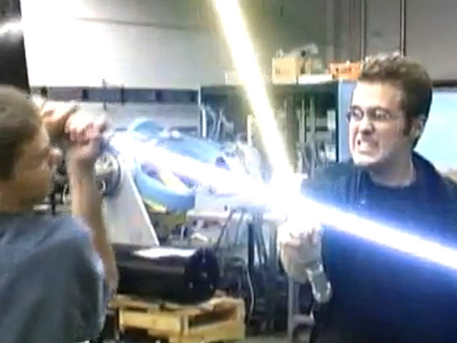 ryan vs dorkman lightsaber fight