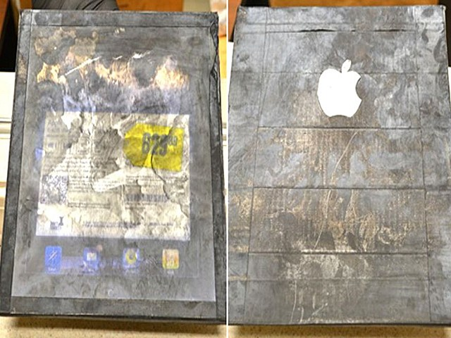 Woman scammed by wood iPad
