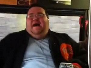 Man sings Like A Prayer on Bus