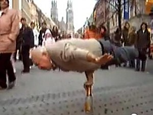 Old man with great balance