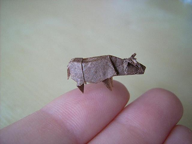Anja Markiewicz origami bull