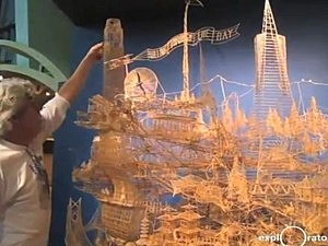 San Francisco replica made of toothpicks