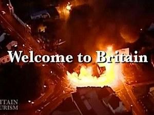 VisitBritain riot parody