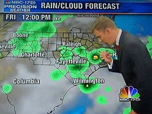 Weatherman swallows moth