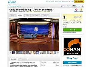 Conan's TV Studio for Rent