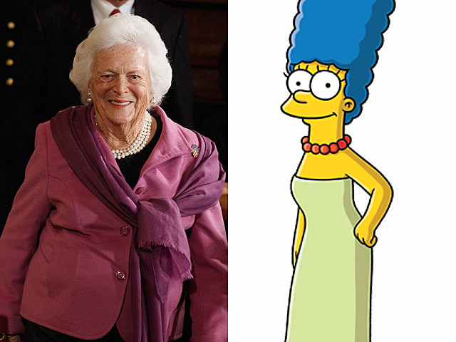 barbara bush marge simpson