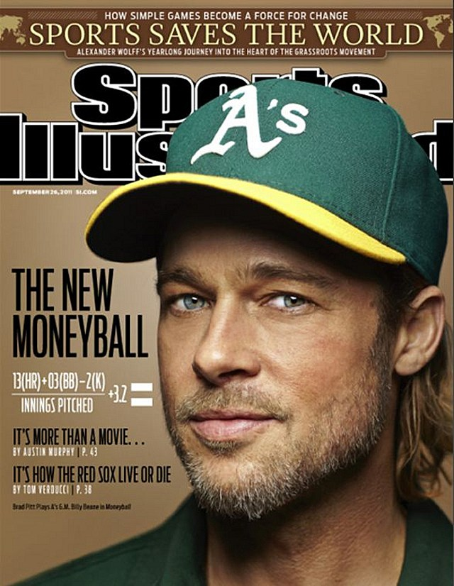 Brad Pitt Bill Beane Sports Illustrated
