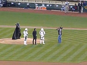 Darth Vader throws out first pitch