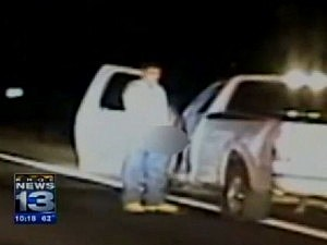 drunk driver stops to pee in middle of police chase