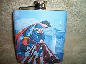 9/11 Superman Flask