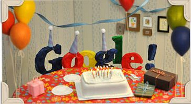 Google 13 birthday doodle