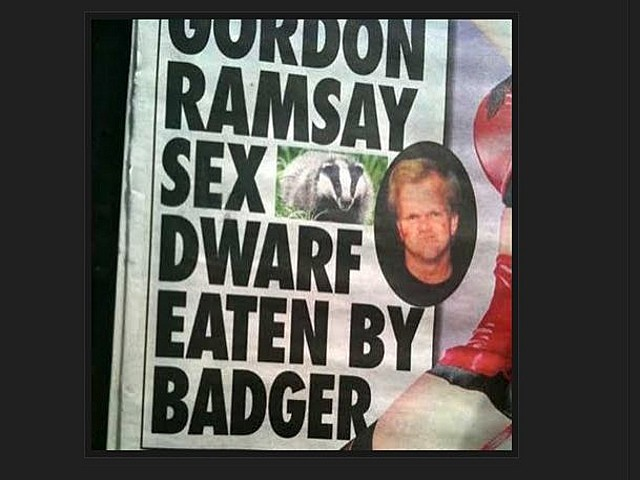 Gordon Ramsey Dwarf Porn Badger