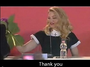 Madonna reacts to being given hated flower
