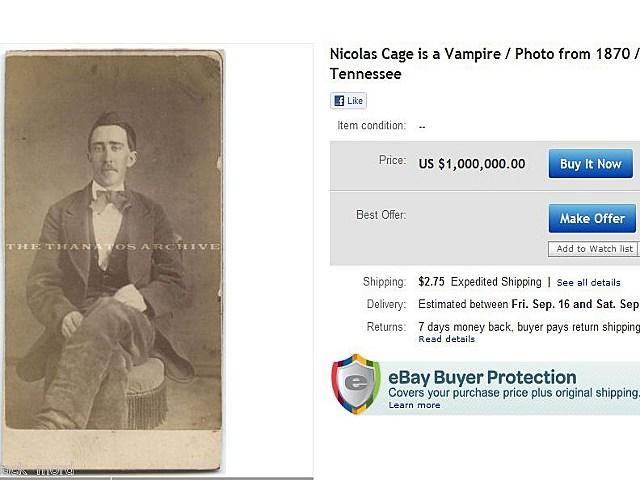Nic Cage Vampire Ebay