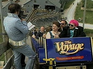 Couple gets married on roller coaster