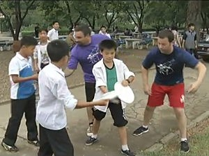 Americans Teaching Ultimate Frisbee in North Korea