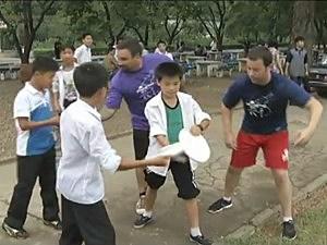 Americans Teaching Ultimate Frisbee in North Korea
