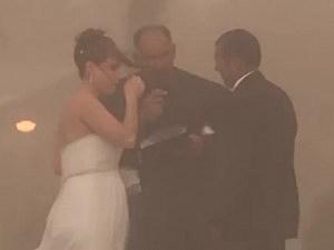 Dust Storm Blows Through Wedding