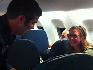 Man Proposes on Flight