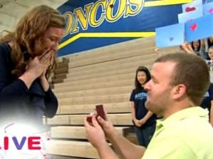 On-air Wedding Proposal