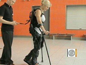 Paralyzed Woman Walks With Exoskeleton