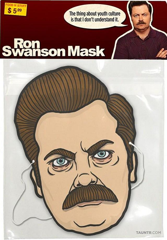 Ron Swanson mask