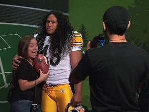 Troy Polamalu wax statue