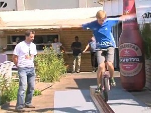 beer bottle unicycle