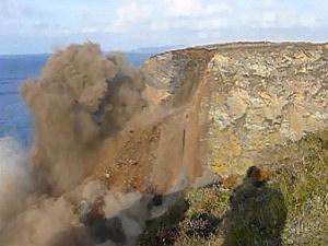 cliff crumbles