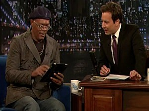 Jimmy Fallon and Samuel L. Jackson