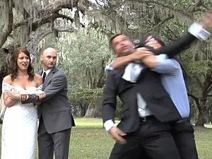 improv everywhere wedding fight