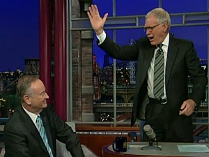 David Letterman and Bill O'Reilly