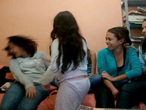 little girl slaps big girl