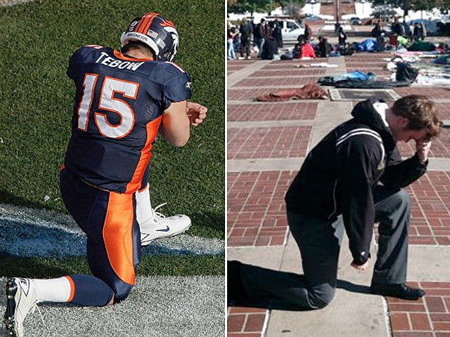 Tim Tebow Tebowing