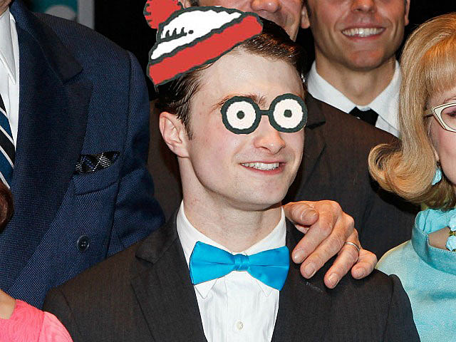 Daniel Radcliffe as 'Where's Waldo?'