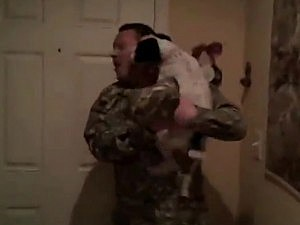 Dogs Greeting Owners Home from Military Deployment