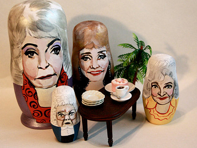 nesting dolls, Golden Girls, Dorothy, Blanche, Rose, Sophia