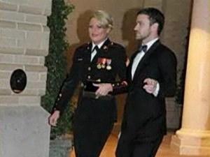Justin Timberlake Attends Marine Ball