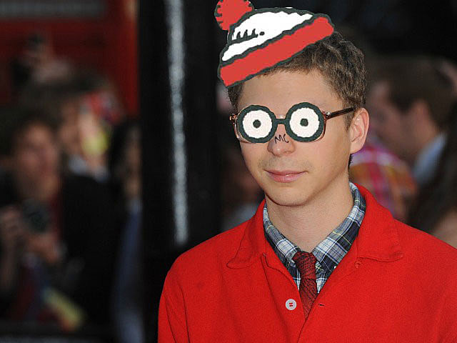 Michael Cera as 'Where's Waldo?'