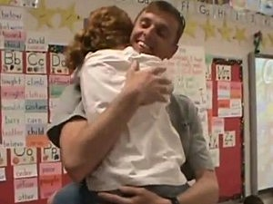 Military Dad Reunites With Daughter